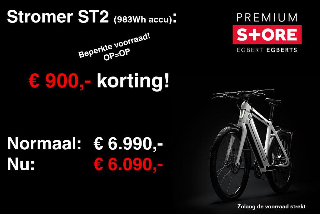 Aanbieding ST2 900 korting beperkte voorraad Egberts Premium Store Groningen Borger